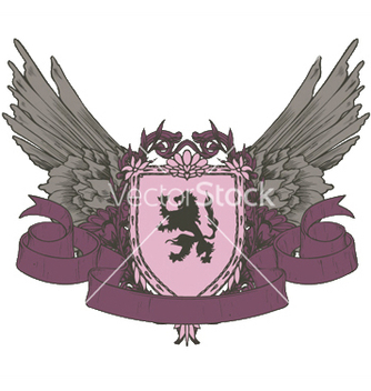 Free vintage crest with scroll vector - Free vector #253843