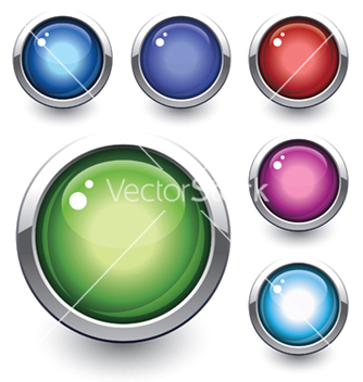 Free glossy button vector - Free vector #253903