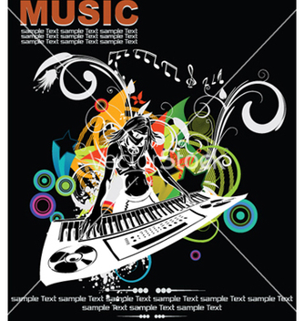 Free music background with dj vector - Kostenloses vector #253953