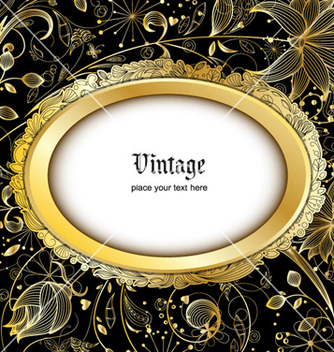 Free vintage gold floral background vector - Free vector #254063