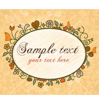 Free floral frame vector - Free vector #254373