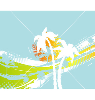 Free summer with palm trees vector - vector gratuit #254513