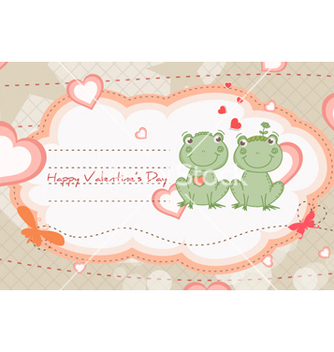 Free frogs in love vector - vector gratuit #254583