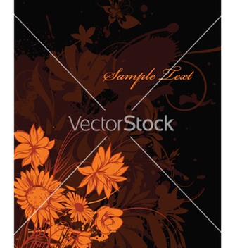 Free autumn floral background vector - Free vector #254613
