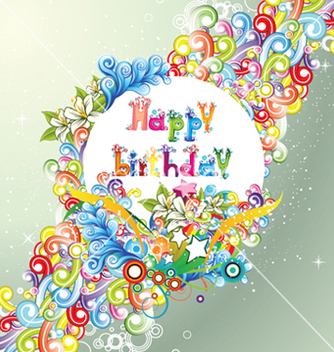 Free happy birthday vector - Kostenloses vector #254723