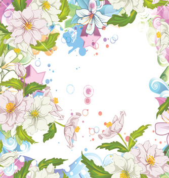 Free spring colorful floral background vector - Free vector #254863