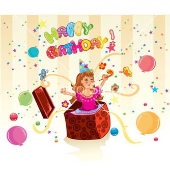 Free kids birthday party vector - Free vector #254943