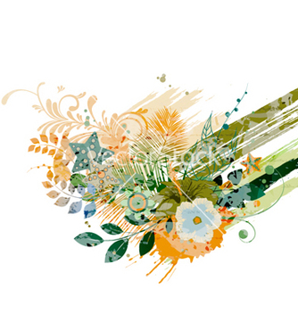 Free watercolor floral background vector - Free vector #255203