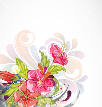Free abstract colorful floral background vector - Free vector #255263