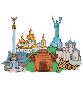 Free kiev doodles vector - vector gratuit #255703