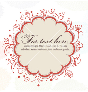 Free autumn frame with floral vector - vector #255843 gratis