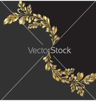 Free vintage gold floral background vector - Free vector #255863
