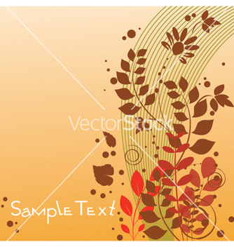 Free autumn floral background vector - Free vector #255903