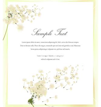 Free spring invitation vector - Kostenloses vector #255993