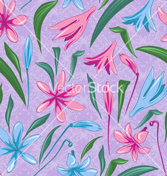 Free colorful floral pattern vector - Free vector #256013