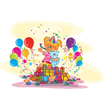 Free kids birthday party vector - Free vector #256103