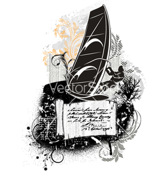 Free windsurf summer background vector - Free vector #256383