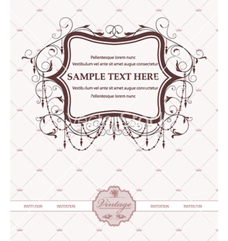 Free vintage invitation card vector - Free vector #256553