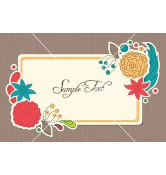 Free spring floral frame vector - Free vector #256613
