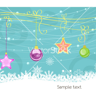 Free christmas greeting card vector - Kostenloses vector #256663