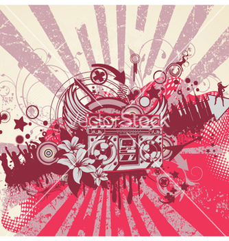 Free music background vector - Free vector #256763