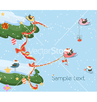 Free winter background vector - Free vector #257113