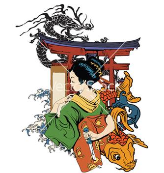 Free japanese emblem vector - vector gratuit(e) #257133
