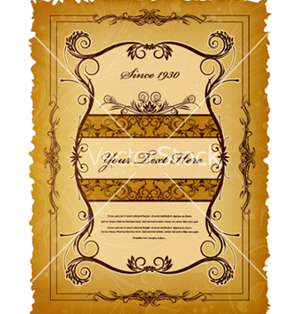 Free vintage label vector - бесплатный vector #257173