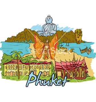 Free phuket doodles vector - vector gratuit #257263