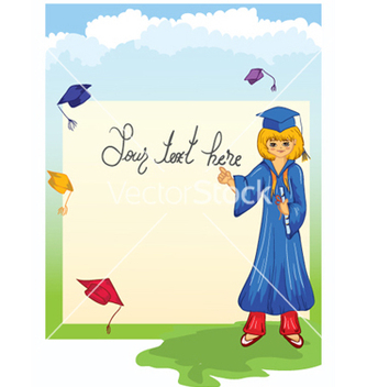 Free graduate girl vector - Free vector #257283