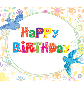 Free happy birthday vector - Kostenloses vector #257423