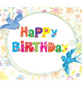 Free happy birthday vector - Kostenloses vector #257423