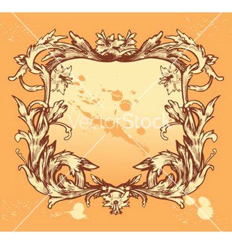 Free vintage floral frame vector - Free vector #257703