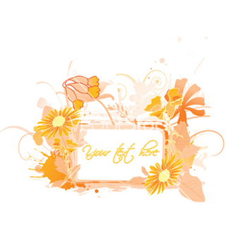 Free vintage floral frame vector - Free vector #257813
