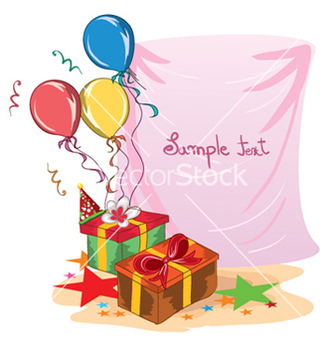 Free kids birthday party vector - Free vector #257883