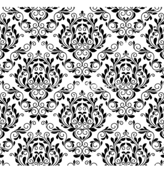 Free damask seamless pattern vector - Free vector #257923