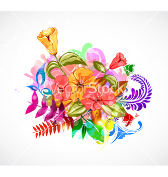 Free abstract colorful floral background vector - Free vector #258233