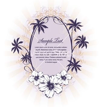 Free summer floral frame vector - Free vector #258283