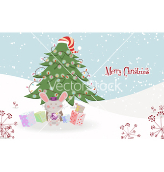 Free bunny with tree vector - Kostenloses vector #259693