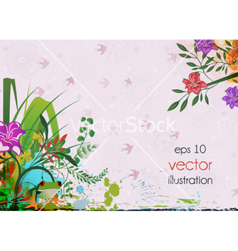 Free spring floral background vector - Free vector #259763