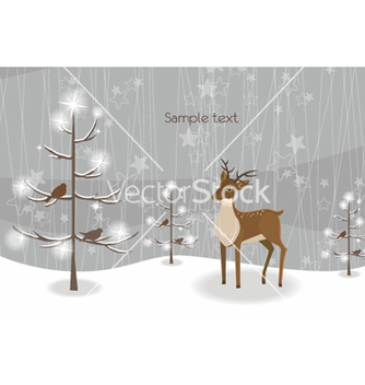 Free reindeer with tree vector - бесплатный vector #259963