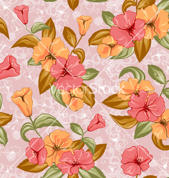 Free colorful floral pattern vector - Free vector #260183