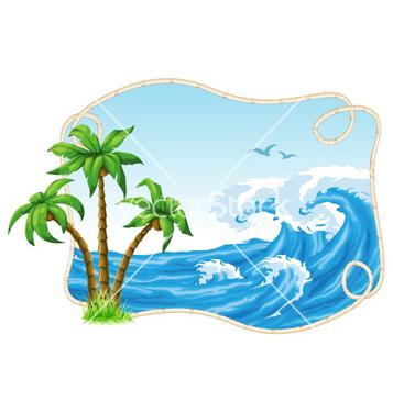 Free summer frame vector - бесплатный vector #260803