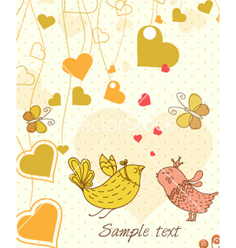 Free birds in love vector - Kostenloses vector #260853