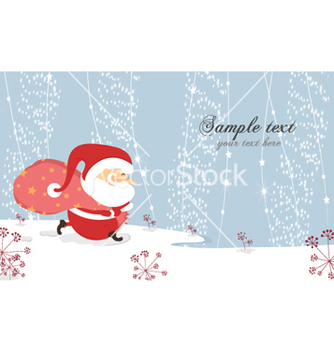 Free christmas card vector - бесплатный vector #261023