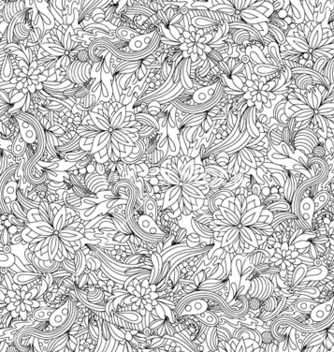 Free floral seamless pattern vector - Free vector #261163
