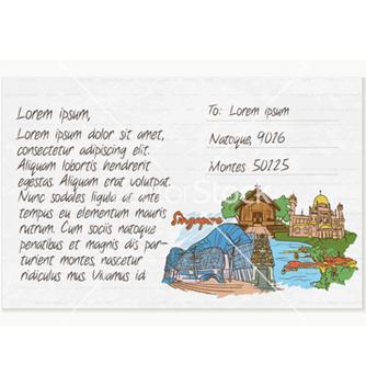 Free vintage postcard vector - Kostenloses vector #261513