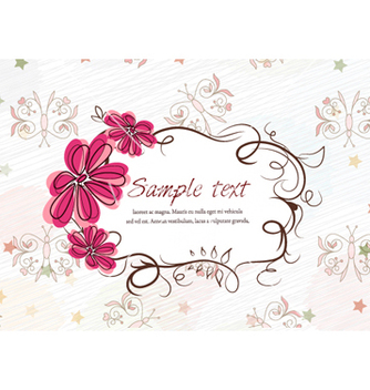 Free colorful spring frame vector - бесплатный vector #262083