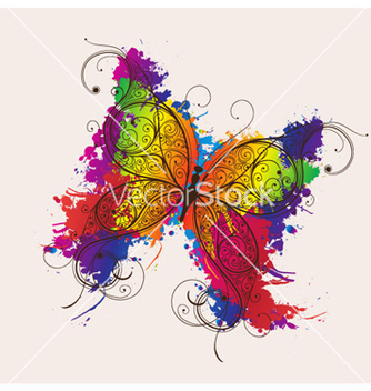 Free butterfly made of floral vector - Free vector #262253