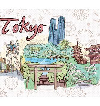 Free tokyo doodles vector - Free vector #262473